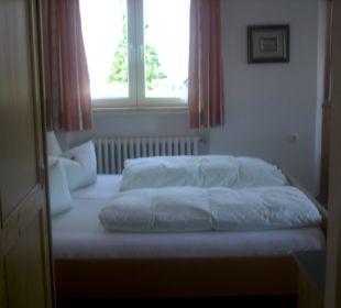 Ansicht zum Doppelbett Hotel Bellevue