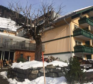 Eingang Hubertus Alpin Lodge & Spa