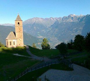 Vista sulla chiesetta di Santa Caterina Hotel Sulfner