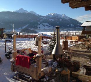 Terrasse im Winter Mair's Landgasthof