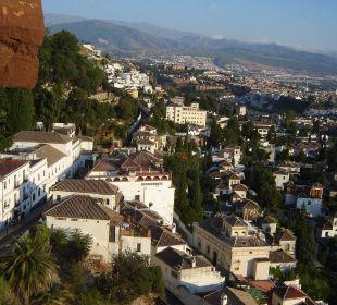 Granada vom Zimmer aus gesehen Hotel Alhambra Palace