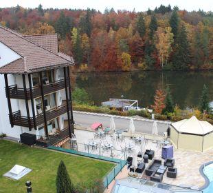 Wohnzimmerfensterausblick Royal Suite Romantischer Winkel SPA & Wellness Resort