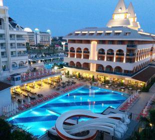 Ausblick vom Balkon Hotel Side Crown Palace