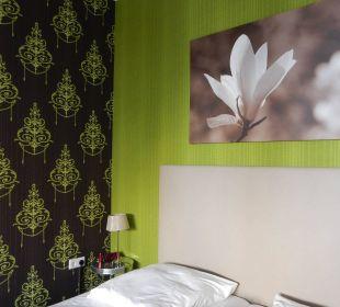 Dezente Farbgebung im Zimmer 72 Hotel Residence Bremen