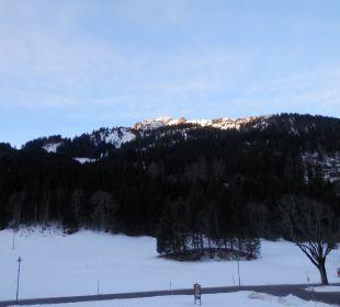 Blick vom Balkon Pension Alpenblick