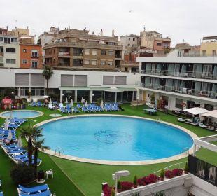Blick vom Balkon Hotel Anabel