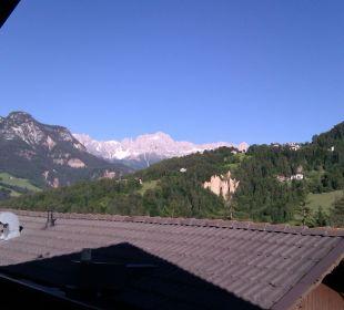 Blick vom Balkon Hotel Steineggerhof