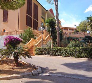 Seitlicher Blick zum Haupthaus Hotel Don Antonio