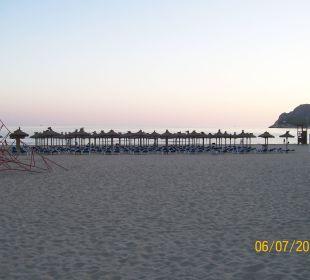 Strand rechte Seite Abend Universal Hotel Lido Park
