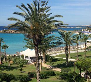 Ausblick aus unserem zimmer Hotel Nissi Beach Resort