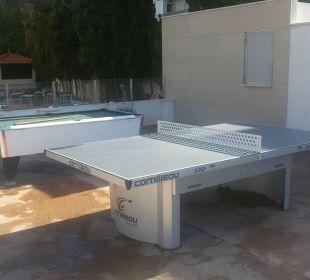 Billard und Tischtennis auf der Sonnenterrasse Appartments Pabisa Orlando