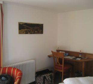 Schreibecke im Komfortzimmer Gasthaus Löwen