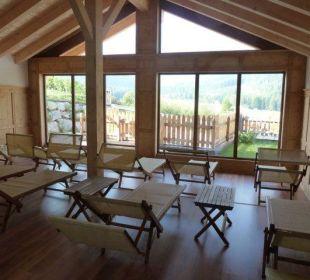 Ruheraum vom Saunabereich Biovita Hotel Alpi