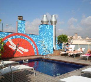 Kleiner Pool auf der Dachterrasse Hotel Ciutat de Barcelona