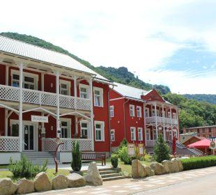 Rezeption und Restaurant Ferienpark Bodetal