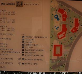 Hotel Lageplan  Hotel Don Antonio