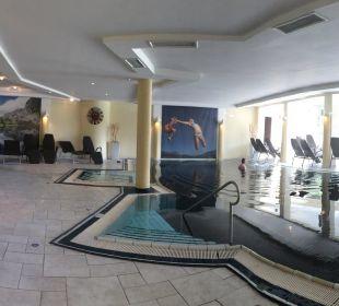 Indoor Pool mit Blick zum Barten Alpen Adria Hotel & Spa