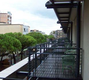 Blick von unserem Balkon Hotel Eden Lido Di Jesolo