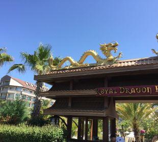 Eingang vom Meer  Hotel Royal Dragon