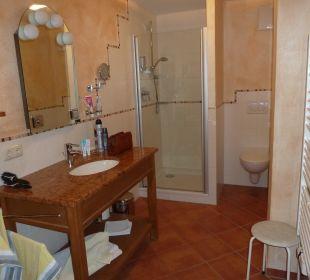 Das Bad mit Dusche Gästehaus Martinsklause