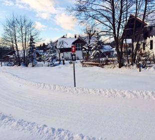 Langlaufloipe direkt neben unserem Haus Wohlfühl-Ferienwohnung Fritz Bodenmais