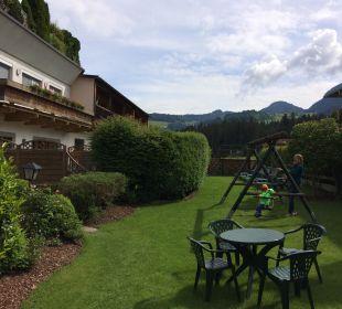Garten  Angerer Familienappartements Tirol
