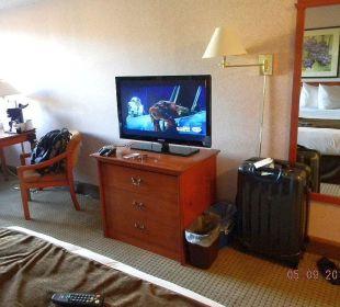 Großer Flach-TV Best Western Hotel Vernon Lodge