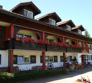 Blick vom Garten aufs Hotel Hotel Mühlenhof