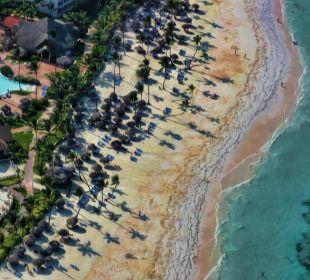 Strand und Bar von oben VIK Hotel Cayena Beach Club