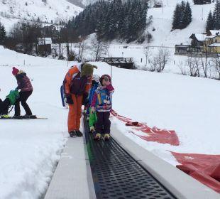 Sport vorm Haus Familotel Oberkarteis