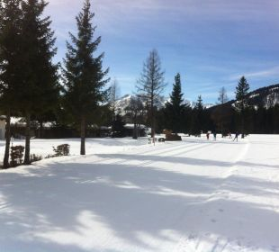 Die Loipen direkt am Haus Alpenhotel Karwendel