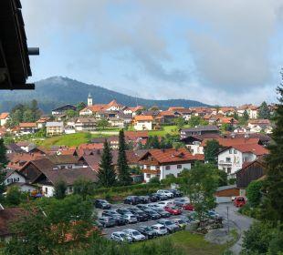 Blick auf Bodenmais von unserem Balkon Landhaus Meine Auszeit