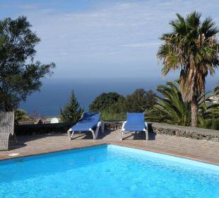 Meerblick von der Poolterrasse Bungalows El Paradiso