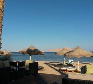 Blick von der Strandbar zum Strand