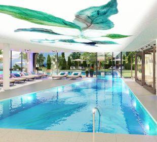Indoor- und outdoor pool Hotel La Maiena Meran Resort