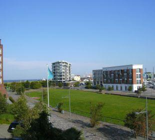Rückseite mit Blick auf die Wesermündung im-jaich boardinghouse bremerhaven