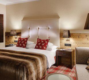 NEU: Schneeflocken-Bett im alpinen Lifestyle-Look. Hotel Lamark