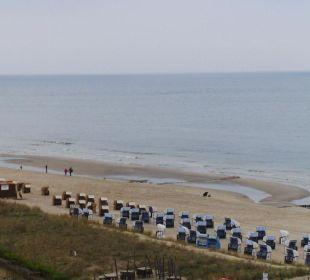 Blick von der Terrasse auf den Strand Panorama Hotel Bansin
