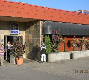 Eingang Best Western Hotel Vernon Lodge