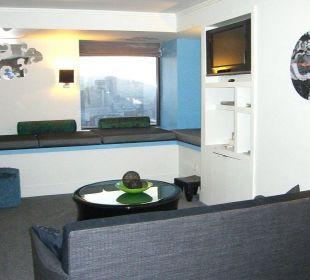 Living Room der Suite im 12. Stockwerk