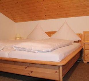 Schlafzimmer der 2-Raum FEWO m. sep. Küche Nr. 3 Ferienwohnung Heim