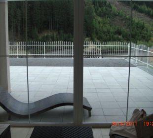 Blick aus dem Ruheraum  Hotel Garni Alpenstern