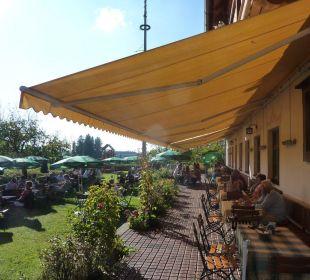 Terrasse und Gartenanlage Landhotel Hoisl-Bräu