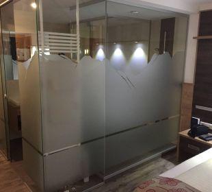 Bad und Toilette Hotel Gundolf