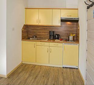 Küche mit allem Zubehör in jeder Wohnung Appartements Riederhof