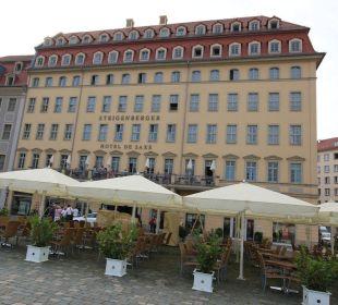 Blick vom Altmarkt, Biergarten Steigenberger Hotel de Saxe