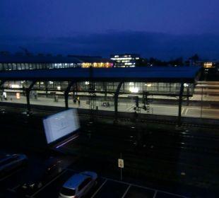Der Ausblick aus dem Fenster meines Zimmers InterCityHotel Darmstadt