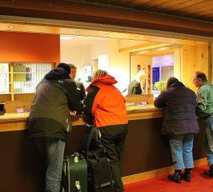 Rezeption vom Laudinella Hotel Laudinella