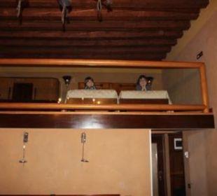 Unten Elternbett oben zwei Kinderbetten Hotel Saturnia