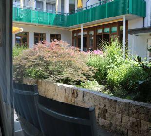 Blick von der Terrasse Appartement A2 Kneipp- und WellVitalhotel Edelweiss